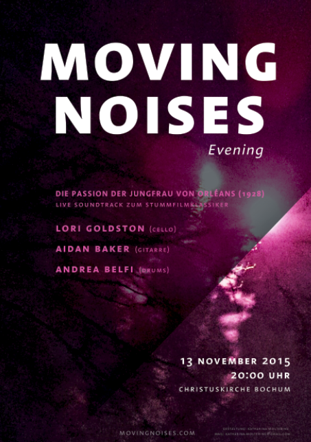 Movin Noises Evening Aidan Baker Lori Goldston Andrea Belfi 13 November 2015